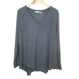 Soft Surroundings Soft Knit Pullover Top Gray XL